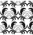 pattern with hand drawn crab in realistic vector image vector image