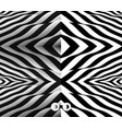 pattern with optical black and white background vector image