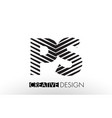 ps p s lines letter design with creative elegant vector image vector image