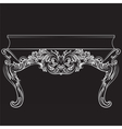 Rich Baroque commode Table with drawers vector image vector image