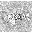 russia hand drawn cartoon doodles vector image