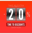 Sale design for coupon vector image vector image