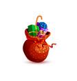 santa claus bag of gifts vector image