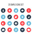 set of 20 editable fruits icons includes symbols vector image vector image