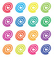 set of colorful fruit jellies vector image