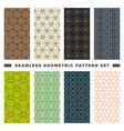 set of seamless decorative geometric shapes vector image vector image