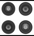 set of wheels of the truck vector image vector image