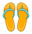 Slippers icon cartoon style vector image vector image