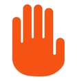 Stop Hand Flat Icon vector image vector image