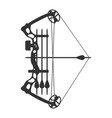 stretched compound bow vector image