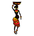 stylized african pregnant woman vector image