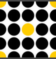 tile pattern with black and yellow polka dots vector image