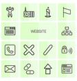 website icons vector image vector image