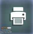 fax printer icon On the blue-green abstract vector image