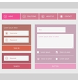 New web forms components vector image