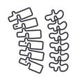 backbonespine line icon sign vector image