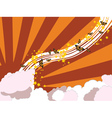 Abstract summer sky vector image vector image