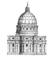 back view of st peters rome a most wonderful vector image vector image