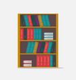 big bookshelf isolated flat vector image