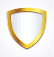 blank gold and white shield for selling points vector image