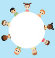 blank poster with kids blank poster with kids vector image vector image