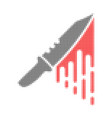 blood knife halftone dotted icon vector image vector image