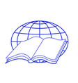 book and globe vector image