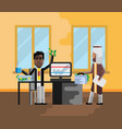 business meeting african businessman with investor vector image vector image
