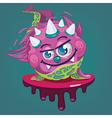 cartoon little virus vector image