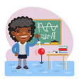 cartoon physics teacher vector image vector image