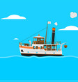cartoon ship vector image vector image