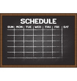 Chalkboard schedule document template vector image vector image
