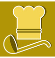 Chef hat and ladle vector image vector image