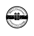 Christmas gift box stamp vector image