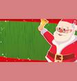 christmas sale banner template xmas santa vector image vector image