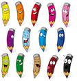 crayons cartoon vector image