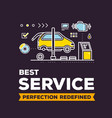 creative of car service workshop on vector image vector image