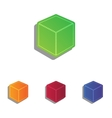 Cube sign Colorfull applique icons vector image