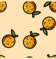 cute cartoon flat style oranges seamless pattern vector image vector image