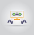 cybersport soccer tournament isolated icon vector image