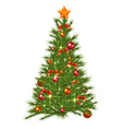 Decorated Christmas Fir Tree vector image