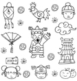 doodle chinese with hand draw vector image vector image