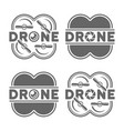 drones and quadrocopters with camera lens icons vector image