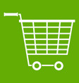 empty supermarket cart with plastic handles icon vector image vector image