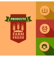 flat farm fresh design vector image