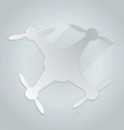 Flat silhouette icon for gray quadrocopter vector image vector image