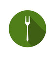 fork icon vector image vector image