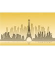 France city of silhouette vector image vector image