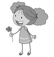 Girl and flower vector image vector image