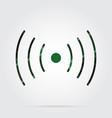 green black tartan icon - sound vibration symbol vector image vector image